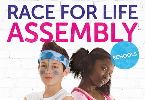 Race for Life Schools assembly poster