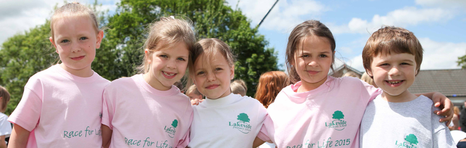 Primary School doing Race for Life
