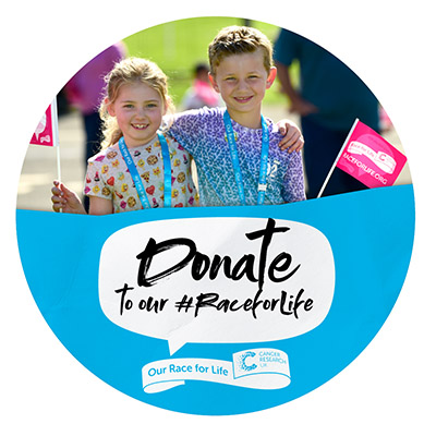 Race for Life Schools Donate Social Badge