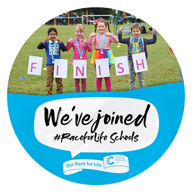 Race for Life Schools Joined Social Badge