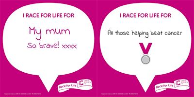 Race for Life digital back sign creator