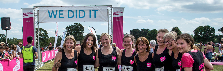 At the finish line of Pretty Muddy