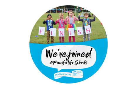 Primary School Race for Life social media badge