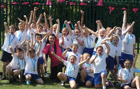 Secondary school students at Race for Life