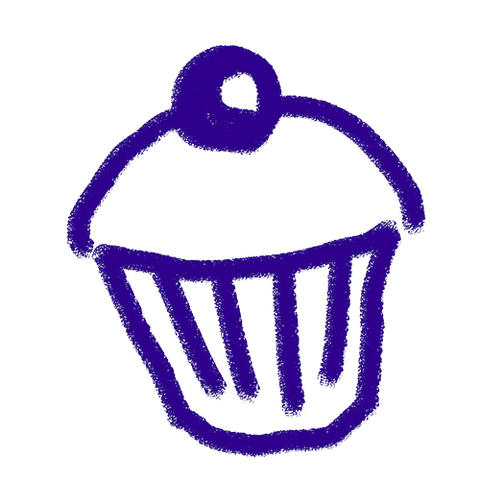 Race for Life Schools cupcake icon