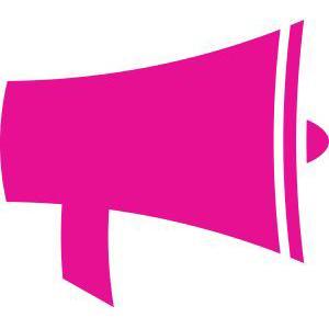 Pink megaphone