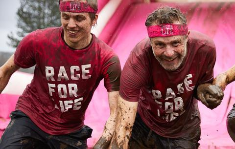 Men taking part in Race for Life