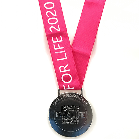 Race for Life at Home medal