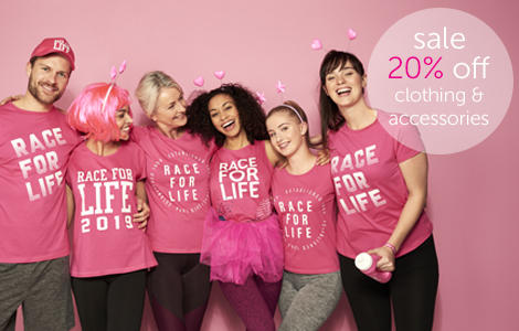 Race for Life shop sale