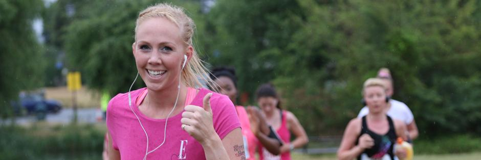 Woman at Race for Life
