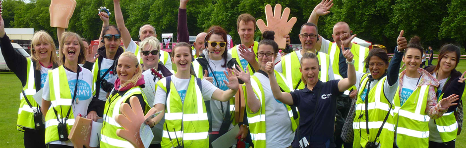 Group of volunteers at Race for Life