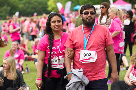 A couple at the Race for Life