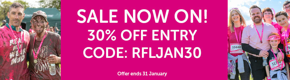 January sale 30% off Race for Life events