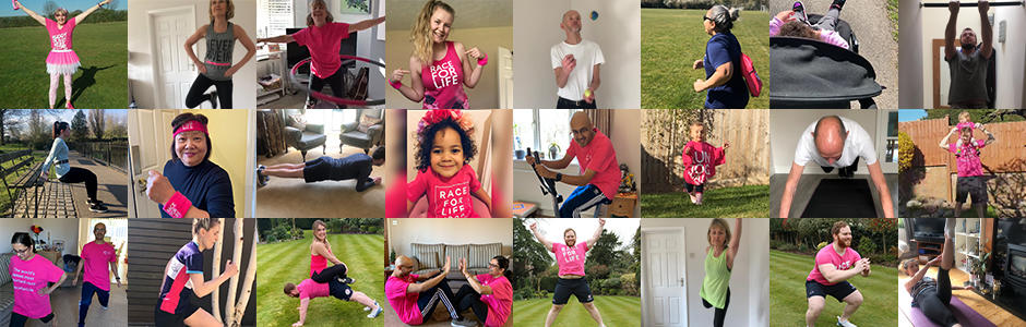 People taking part in the Race for Life at Home