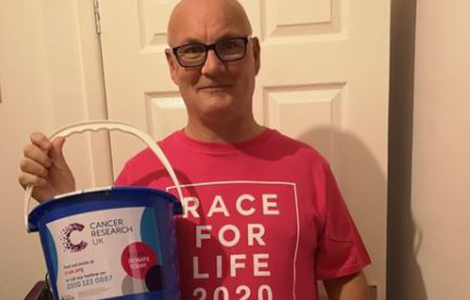 Paul raising money for Cancer Research