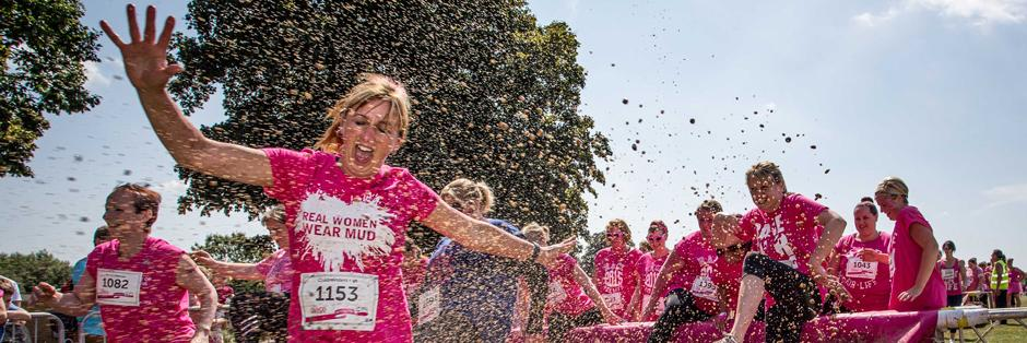 Woman at a Pretty Muddy event