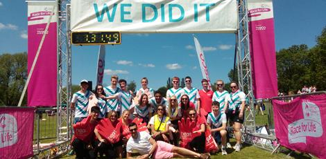 Schools volunteering at Race for Life