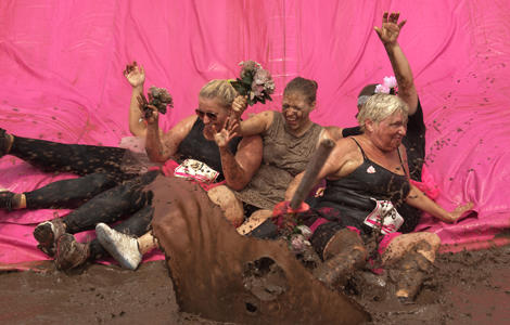 Pretty Muddy® mud slide