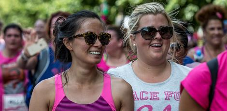 Women at a Race for Life event